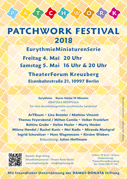 Poster for the Patchwork Eurythmy Festival in Berlin, May 2018