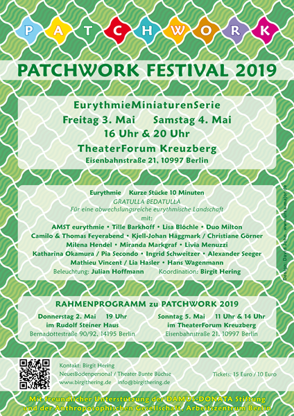 Poster for the Patchwork Eurythmy Festival in Berlin, May 2019