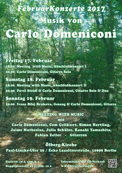 Poster design for Februarkonzerte 2017, Carlo Domeniconi concerts, February 2017