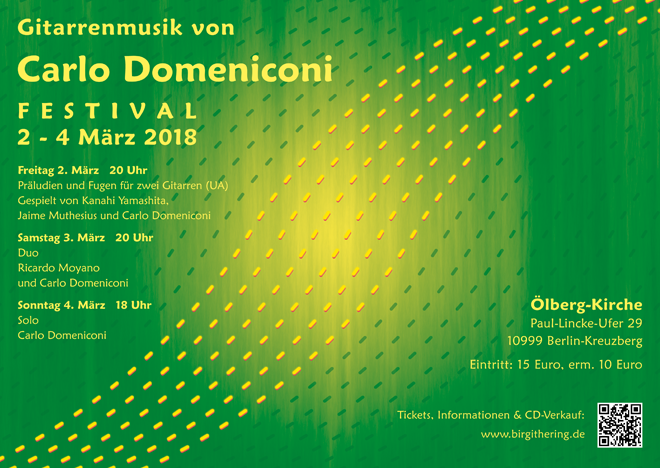 Poster design for FESTIVAL 2018, Carlo Domeniconi concerts, March 2018
