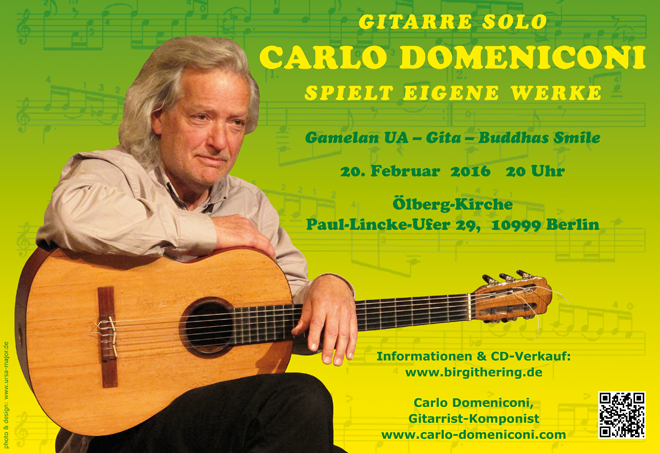 Carlo Domeniconi concert poster design, February 2016
