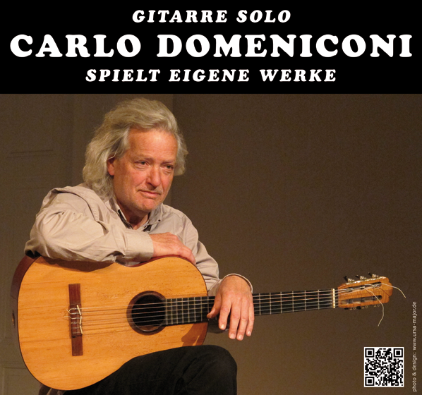 Poster design for Carlo Domeniconi concerts May - August 2016