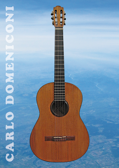 Carlo Domeniconi guitar series postcard design, September 2013
