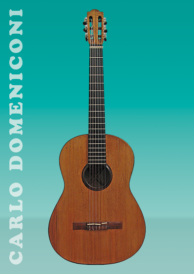 Carlo Domeniconi guitar series postcard design, March-June 2014