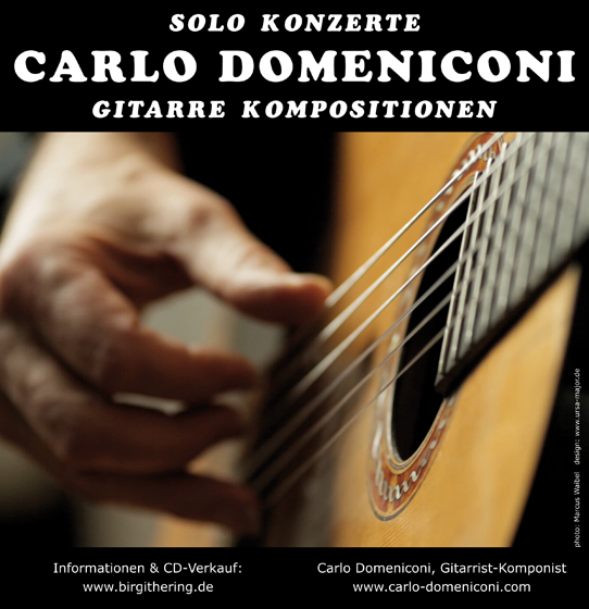 Poster design for Carlo Domeniconi solo concerts, 2015