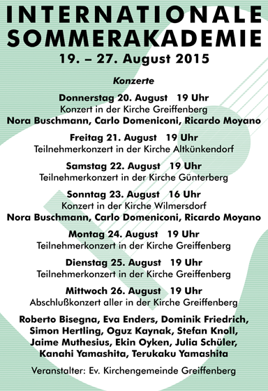 Poster design for Internationale Sommerakademie 2015