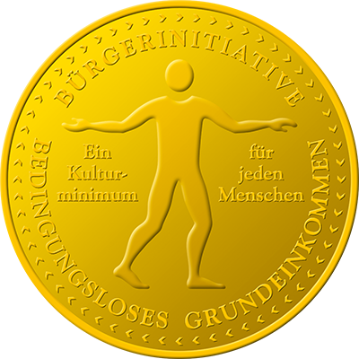 Citizens' Initiative for Unconditional Basic Income. Logo designed by Ursa Major Design in Berlin