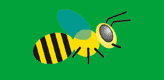 busy bee logo, designed by David John in Berlin