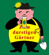 The Thirsty Gardener logo, designed by David John in Berlin